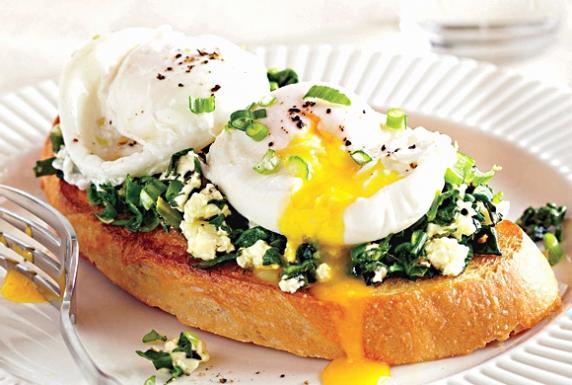 Easy and healthy Feta Kale Eggs recipe