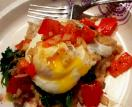 Healthy egg with Peppered White Bean, Kale recipe