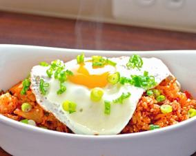 Spicy Fried Rice with Sunny-Side Egg recipe