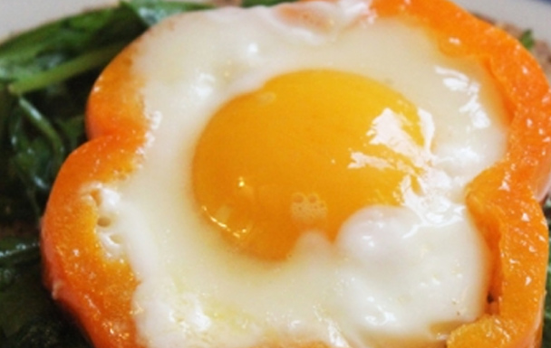 Egg Sunrise with Peppers